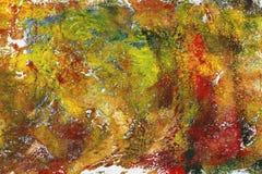 Fundo acrílico pintado à mão das artes Fotografia de Stock Royalty Free