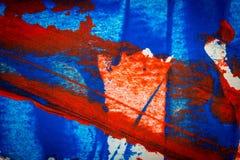 Fundo acrílico pintado à mão vermelho e azul abstrato ilustração royalty free