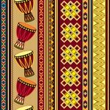 Fundo africano do cilindro Fotografia de Stock Royalty Free
