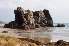 Fundo agradável da praia do tempo Imagens de Stock