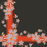 Fundo agradável do grunge da flor Imagem de Stock Royalty Free