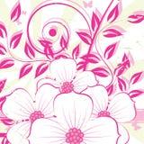 Fundo agradável do grunge da flor Imagem de Stock