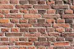 Fundo agradável do grunge da textura da parede de tijolo vermelho foto de stock