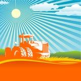 Fundo agricultural ilustração stock