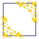 Fundo aguçado do molde do quadro do símbolo da estrela da aquarela cinco Imagem de Stock