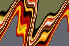 Fundo alaranjado abstrato fluido do verde amarelo, ondas como formas ilustração do vetor