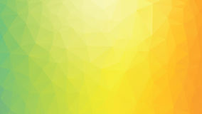 Fundo alaranjado amarelo verde poligonal geométrico ilustração royalty free
