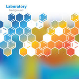 Fundo alaranjado-azul abstrato do laboratório. Imagens de Stock Royalty Free