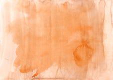 Fundo alaranjado da aquarela do outono Textura Elementos do projeto A Imagem de Stock Royalty Free