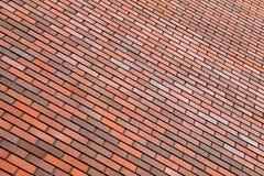 Fundo alaranjado da parede de tijolo Fotografia de Stock Royalty Free