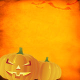 Fundo alaranjado de Grunge Halloween Foto de Stock Royalty Free