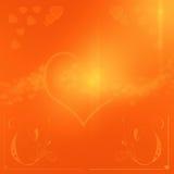 Fundo alaranjado do dia de Valentim Fotografia de Stock