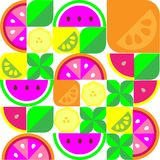Fundo alaranjado do fruto da toranja colorida da banana do limão foto de stock royalty free