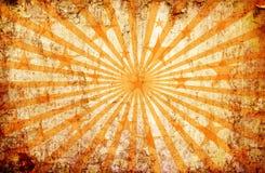 Fundo alaranjado do grunge com raias e estrelas do sol ilustração do vetor