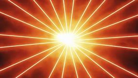 Fundo alaranjado do movimento dos raios dos raios laser vídeos de arquivo