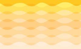 Fundo alaranjado e amarelo da curva abstrata do vetor do tom Fotos de Stock