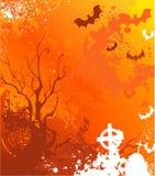Fundo alaranjado em Halloween Imagens de Stock
