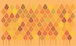 Fundo alaranjado floral com decoração brilhante ilustração royalty free