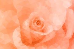 Fundo alaranjado floral do polígono abstrato do triângulo Imagem de Stock Royalty Free