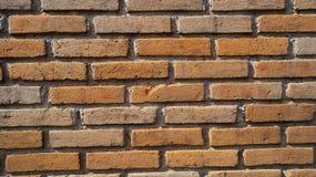 Fundo alaranjado velho da textura da parede de tijolos Fotografia de Stock