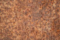 Fundo alaranjado vermelho da chapa metálica da oxidação Foto de Stock Royalty Free