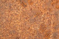 Fundo alaranjado vermelho da chapa metálica da oxidação Imagem de Stock