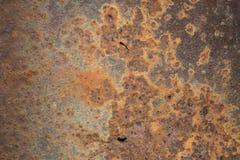 Fundo alaranjado vermelho da chapa metálica da oxidação Fotografia de Stock
