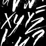 Fundo alfabético da caligrafia futurista Cores preto e branco Desenho de Colapen Foto de Stock Royalty Free