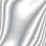 Fundo alinhado sumário, estilo da ilusão ótica Linhas caóticas Fotografia de Stock