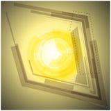 Fundo amarelo abstrato com luz Imagem de Stock
