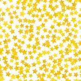 Fundo amarelo abstrato da estrela Ilustração do vetor ilustração stock