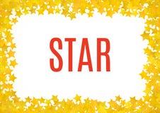 Fundo amarelo abstrato da estrela Ilustração do vetor ilustração do vetor