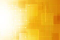 Fundo amarelo abstrato da tecnologia Foto de Stock Royalty Free