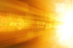 Fundo amarelo abstrato da tecnologia Fotografia de Stock