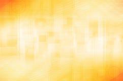 Fundo amarelo abstrato do círculo e do quadrado Imagem de Stock