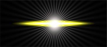Fundo amarelo abstrato do efeito da luz da velocidade clara do alargamento, papel de parede ilustração do vetor
