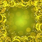 Fundo amarelo com beira decorativa Ilustração Fotos de Stock