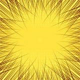 Fundo amarelo da banda desenhada Imagens de Stock Royalty Free