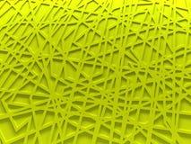 Fundo amarelo da malha do caos rendido Fotografia de Stock Royalty Free