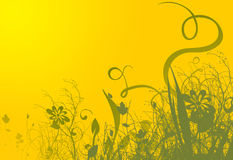 Fundo amarelo da mola Foto de Stock Royalty Free