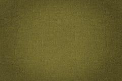 Fundo amarelo da textura da tela Fotografia de Stock