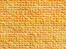 Fundo amarelo de toalha Foto de Stock Royalty Free