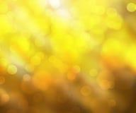 Fundo amarelo do bokeh Imagens de Stock Royalty Free