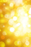 Fundo amarelo do bokeh Imagens de Stock