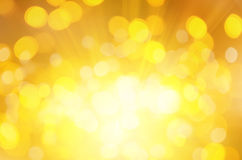 Fundo amarelo do bokeh Fotografia de Stock Royalty Free