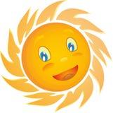 Fundo amarelo do branco do sol Foto de Stock