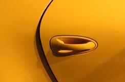 Fundo amarelo do carro Foto de Stock