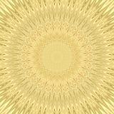 Fundo amarelo do fractal da explosão do sol da mandala - projeto circular do teste padrão do vetor das estrelas curvadas Fotografia de Stock