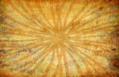 Fundo amarelo do grunge do vintage com raias do sol ilustração royalty free