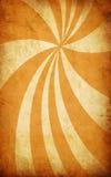 Fundo amarelo do grunge do vintage com raias do sol ilustração stock
